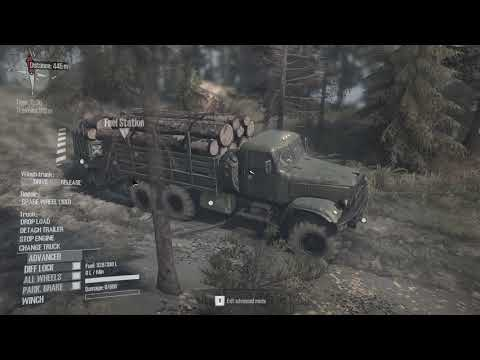 MudRunner_ A Spintires game Gameplay island lumber delivery part 3 RV Entrainment  