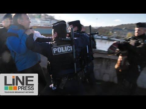 Des militants contre le One Planet Summit / Boulogne-Billancourt (92) - France 12 décembre 2017