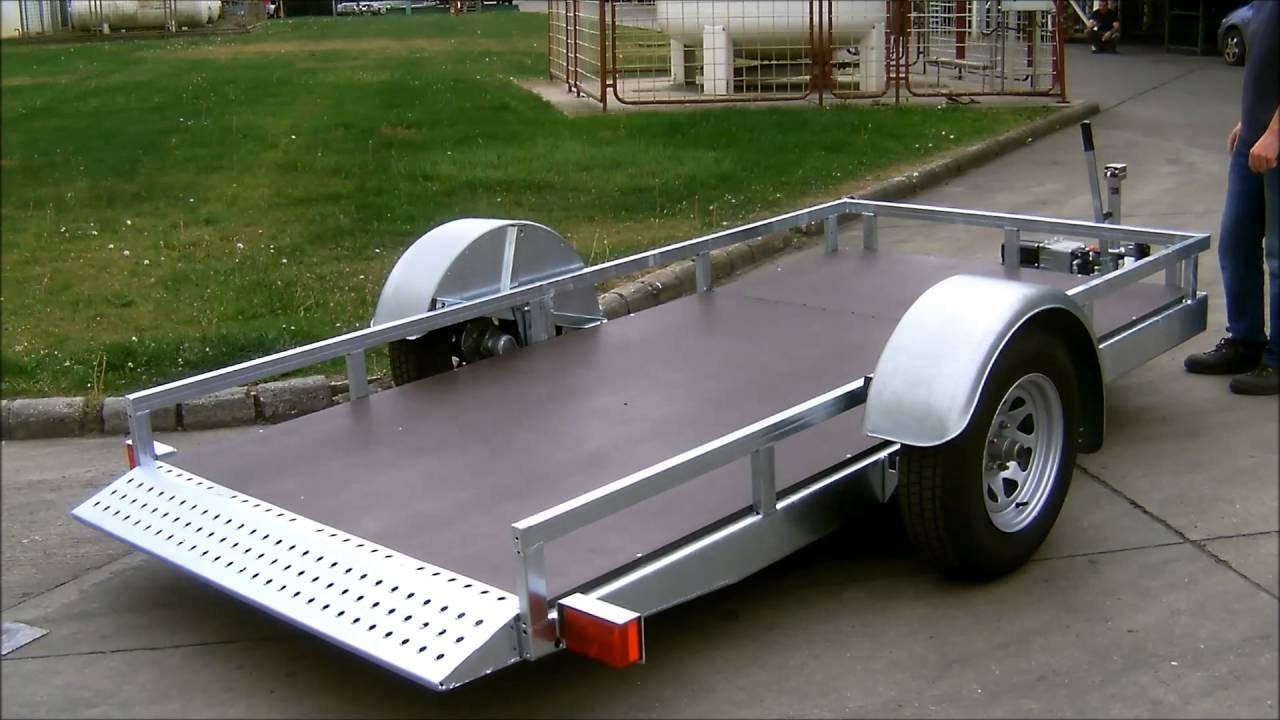 Hydraulic Lowering Trailers : Autoflex hydraulic lowering system for trailer youtube