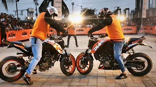 KTM Stunt Show!! Watch awesome stunt arts by Pro Stunters with great skills and technique!!