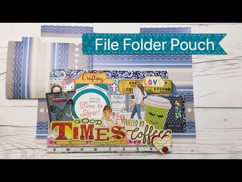 DIY File Folder Pouch for Paper Scraps and Ephemera - Tutorial