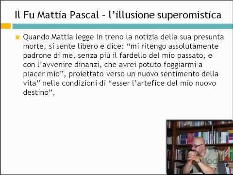 Il fu Mattia Pascal - Luigi Pirandello - Lezioni di letteratura del 900