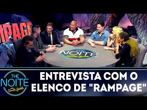 Léo Lins entrevista elenco de Rampage | The Noite (11/04/18)