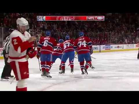 Phillip Danault 1-0 Goal - Red Wings @ Canadiens - 11.12.2016