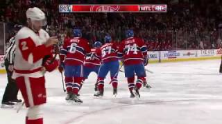 Phillip Danault 1-0 Goal - Red Wings @ Canadiens - 11.12.2016