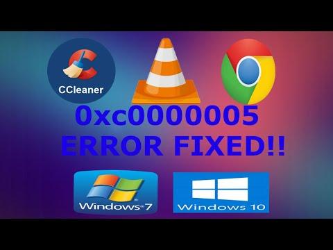 how to fix application error 0xc00005 windows 10