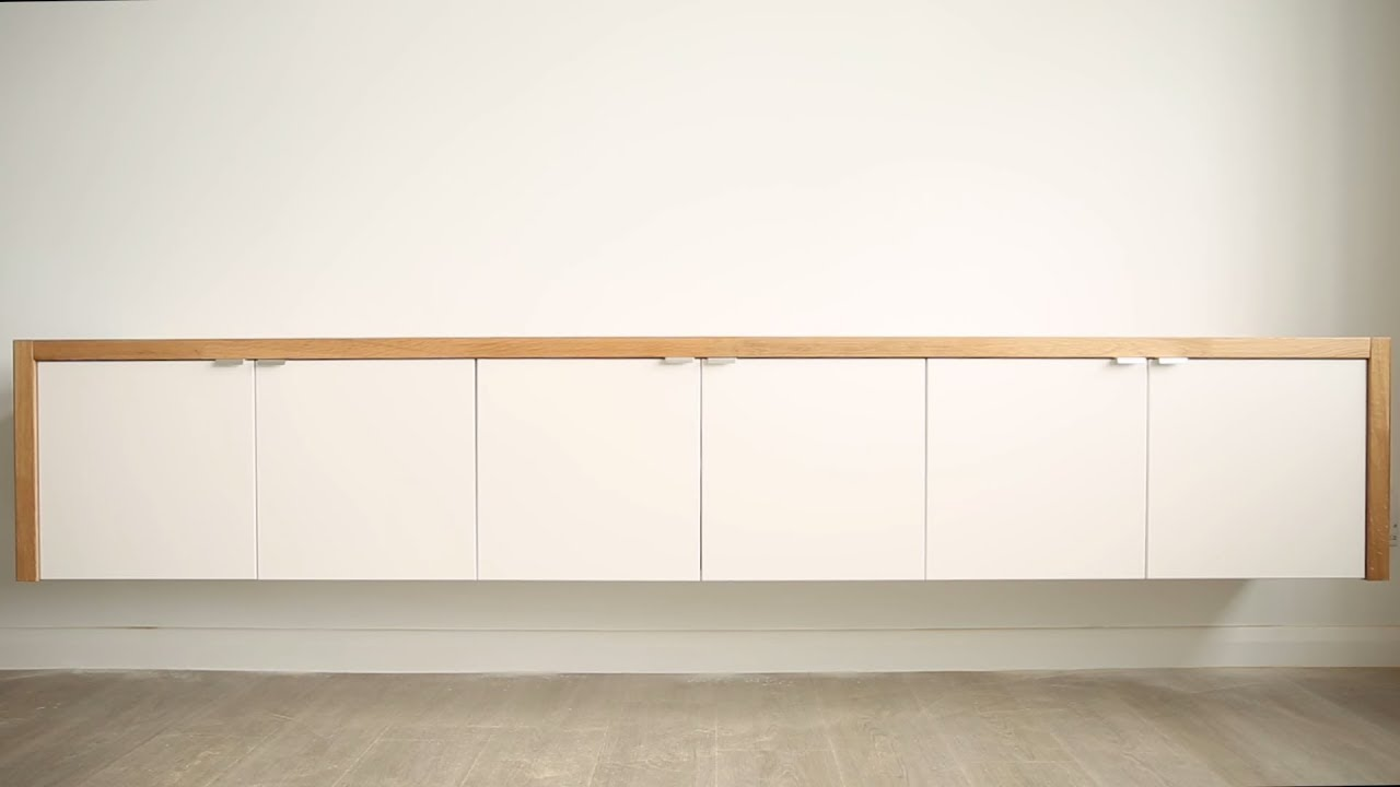 diy floating sideboard ikea hack theworktop youtube. Black Bedroom Furniture Sets. Home Design Ideas