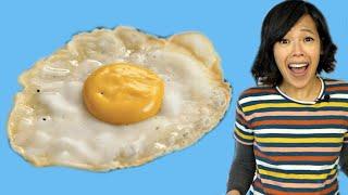 How to Make an EGG FRUIT Vegan FRIED EGG - Will it taste like egg?