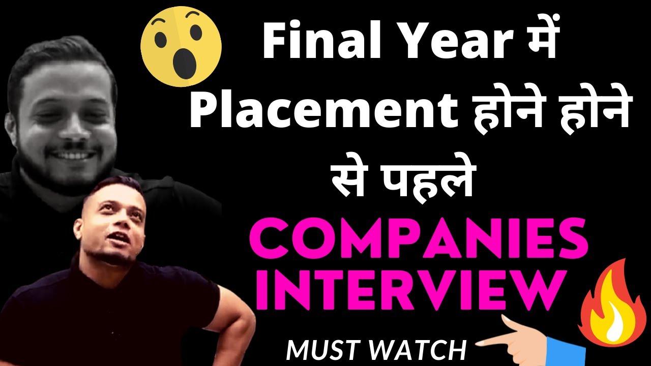 Download Final Year में Placement होने होने से पहले -Rajwant Sir  Companies Job Interview 🔥  PW Lakshya  PW