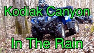 Yamaha Kodiak Canyon - ATV Ride In The Rain - May 19 2013