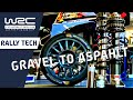 Changing a Rally Car from Gravel to Asphalt in 75 minutes! With rally engineers & rally mechanics.