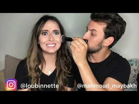 Makeup tutorial by Mahmoud maybakh et loubinette