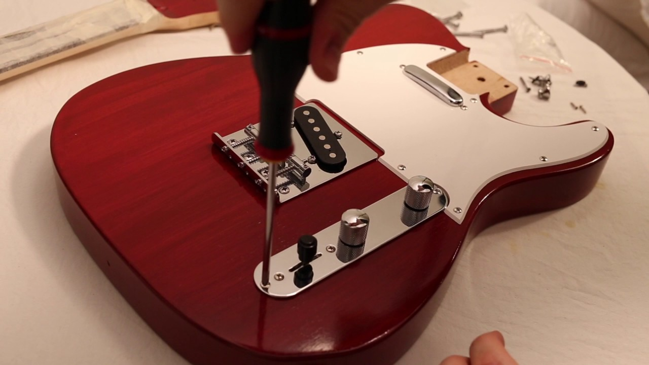 Harley Benton T Style Guitar Kit Build Part 7 Assembling Youtube