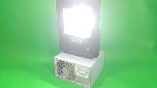 Chế Đèn LED Tích Điện 12v-20W dùng cả ngày chưa hết Pin