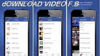 FaceBook-Vidéos : télécharger les vidéos de FaceBook directement sur votre iPhone..SS Jailbreak