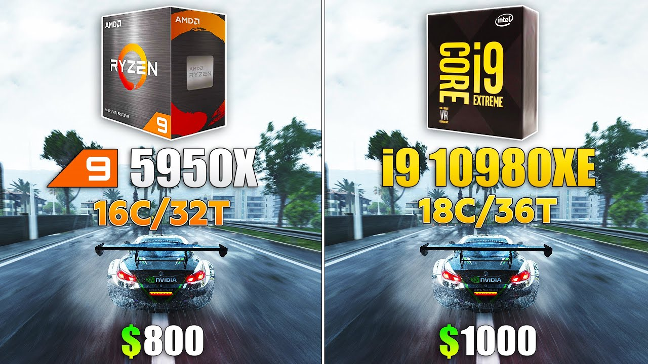 Ryzen 9 5950X vs i9 10980XE - Test in 8 Games