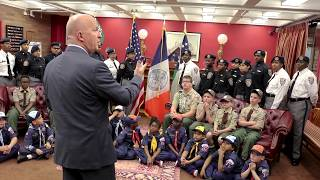 NYPD Commissioner O'Neill Speaks to NYC Scouts and Explorers