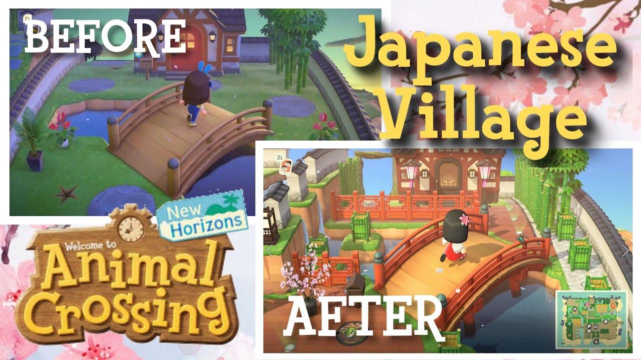 Revamping My Japanese Village Animal Crossing New Horizons Youtube