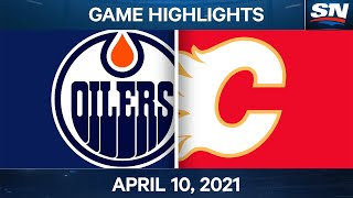 NHL Game Highlights | Oilers vs. Flames - Apr. 10, 2021