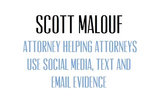 Scott Malouf - New Media, New Ethics