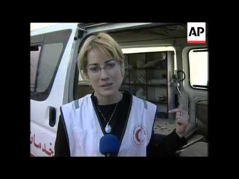 Palestinians call ambulance crews 'heroes'