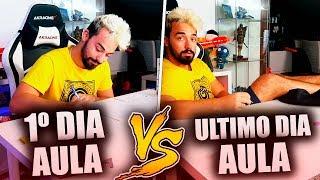 PRIMEIRO DIA DE AULA VS ULTIMO DIA