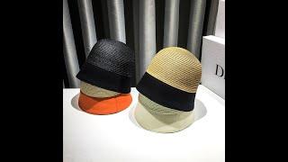 Соломенная шляпа женская маленькая панама солнцезащитная 2021 модные солнцезащитные кепки