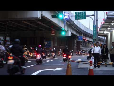 Traffic in Taipei City, Taiwan