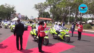Akufo-Addo's distinct arrival at Parliament for swearing-in