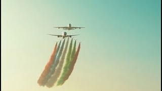 Flyover at the 2018 Formula 1 Abu Dhabi GP with Et...