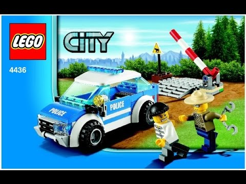 Lego 4436 Patrol Car City Police Instruction Booklet Youtube
