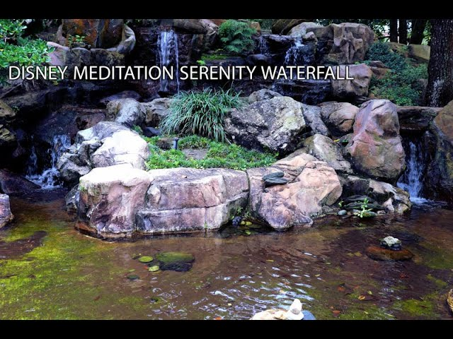 🔴Disney Meditation Serenity Waterfalls Japanese Gardens Epcot - 10 Hour Deep Sleep Relaxing Dreams