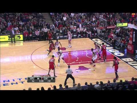 Elton Brand Atlanta Hawks Vs Chicago Bulls 01.17.15 HighLights