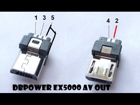 Wiring Diagram For Usb Plug Flasher Relay Dbpower Ex5000 Micro B Av Out - Youtube