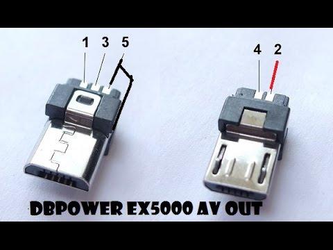 Usb Pin Diagram Chint Garage Consumer Unit Wiring Dbpower Ex5000 Micro B Av Out - Youtube