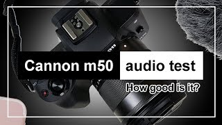 The Canon M50 Built-in Microphone Audio Test
