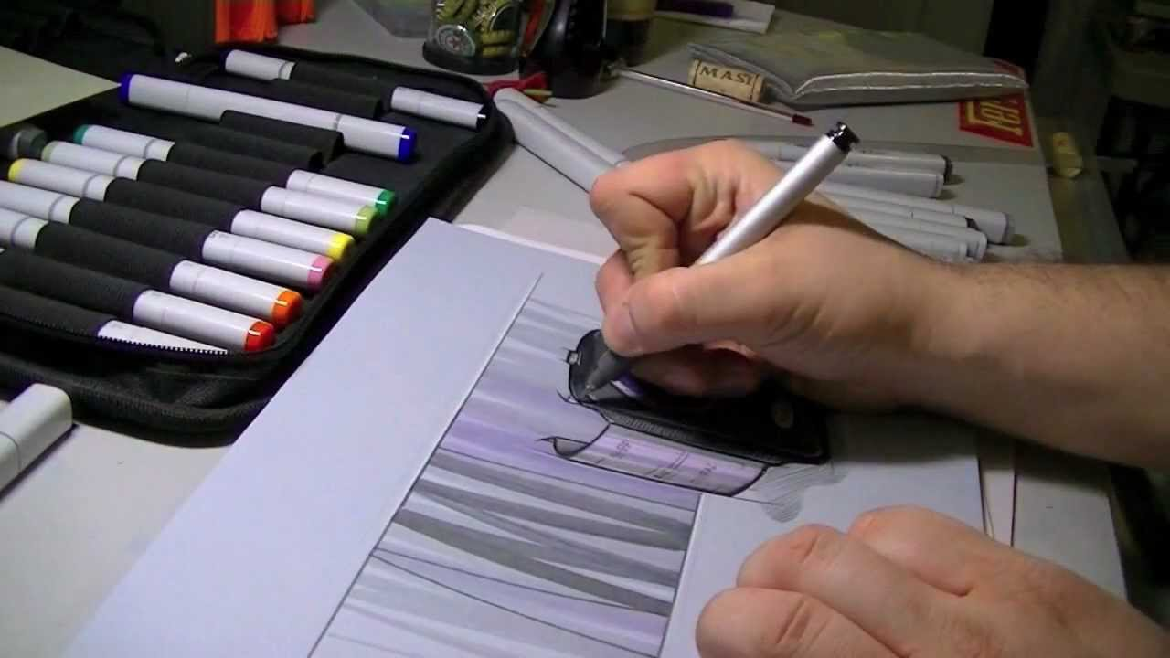 Product Design Rendering Using Copic Markers Stefano Di