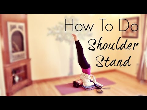 How To Do a Yoga Shoulder Stand Salamba Sarvangasana | ChriskaYoga