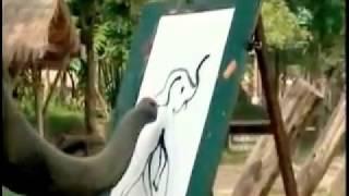 Слоник нарисовал себя!