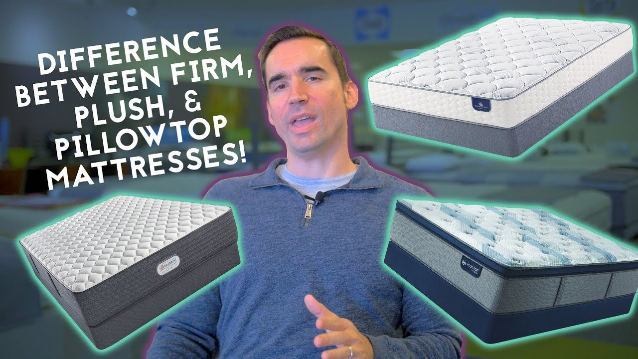 what s the difference between a firm plush and pillow top mattress