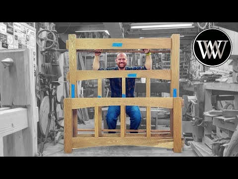 Mission Style Bed Frame Headboard and Footboard