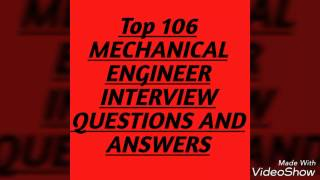 Top 106 mechanical engineer interview question and answer
