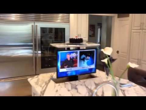 TV LIFT  NEXUS Pop Up TV Lift Kitchen Install Woodland