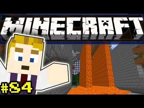 Minecraft - LAVA FALLS! - Part 84