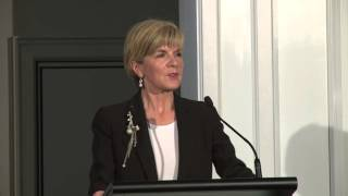 The Hon. Julie Bishop MP. addresses Australian Friends of the Hebrew University
