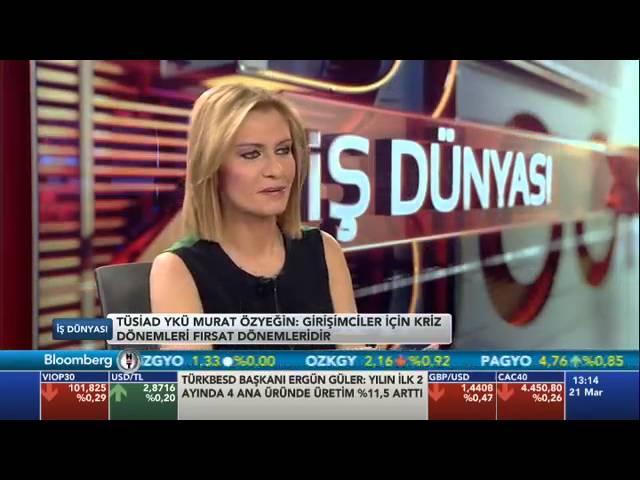 TÜSİAD Yönetim Kurulu Üyesi Murat Özyeğin Bloomberg HT İş Dünyası Programı