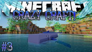 """KILLER WHALE!"" - Minecraft: Crazy Craft! Crystal Dimension [SEASON 2] - #3"