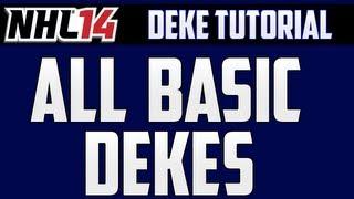 NHL 14: Deking Tutorial - Basic Dekes