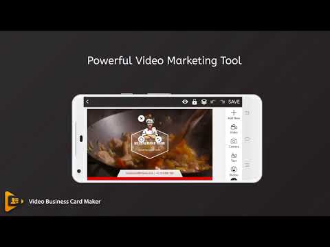 Video business card maker apps on google play reheart Image collections