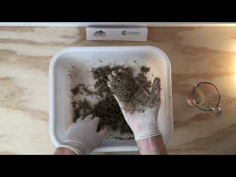Using A Hempcrete Sample From Rocky Mountain Hemp Build